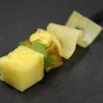 Curry de volaille et sa dentelle de navet jaune